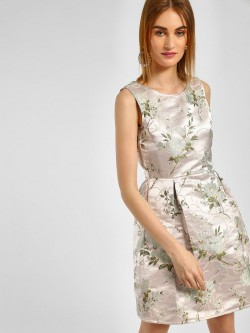 Cover Story Floral Embroidered Skater Dress