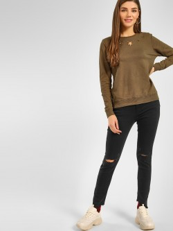 Cover Story Torn High Rise Skinny Jeans