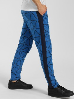 KOOVS Slogan Print Side Tape Joggers