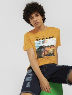 KOOVS Desert Escape Slogan Print T-Shirt