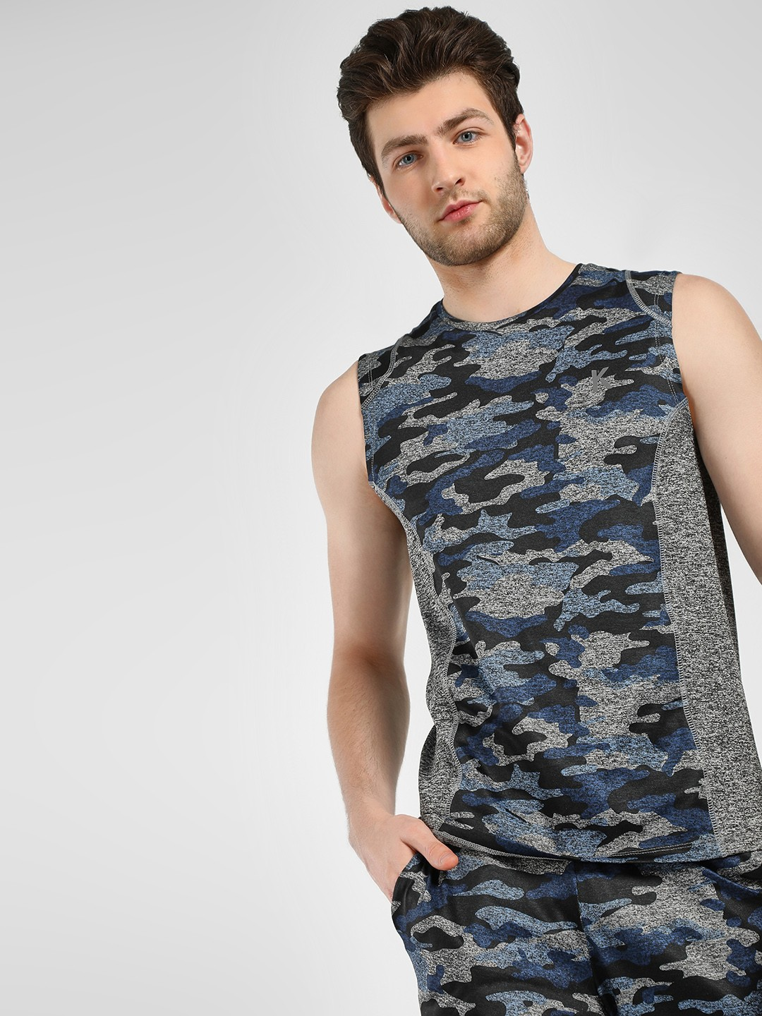 K ACTIVE Multi KOOVS Camo Panel Printed Tank 1