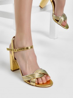 New Look Metallic Strappy Stiletto Heels