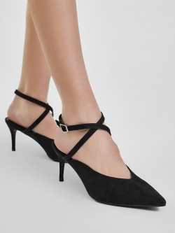 New Look Cross Strap Heeled Sandals