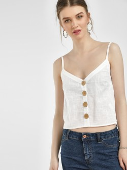 KOOVS Button Front Cami Top