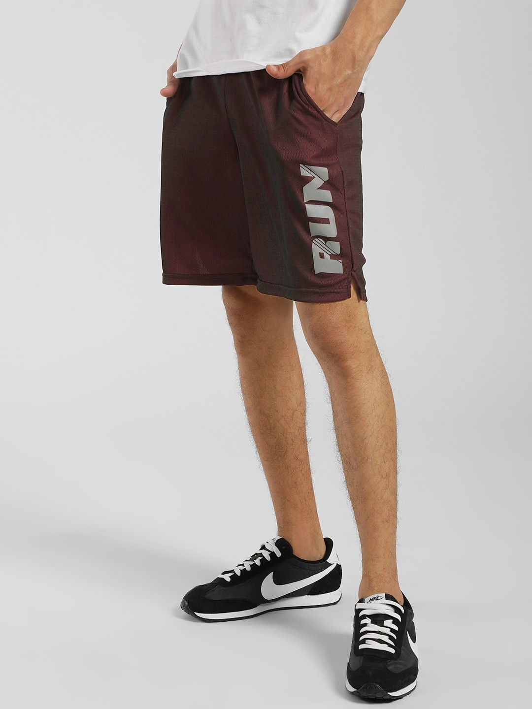 K ACTIVE Maroon KOOVS Reflective Running Shorts 1