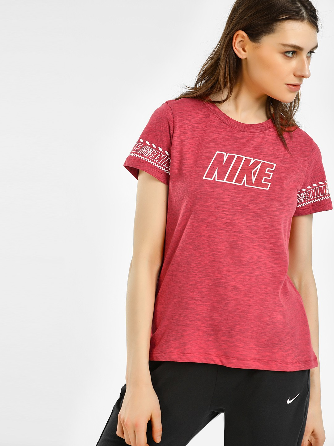 Nike Red Dri-Fit Brand Slub T-Shirt 1