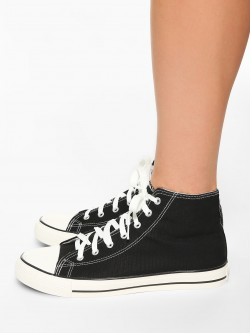 KOOVS Mid-Top Canvas Sneakers