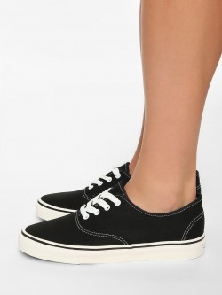 KOOVS Canvas Low Top Sneakers