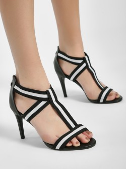Intoto Elasticated Strap Heeled Sandals