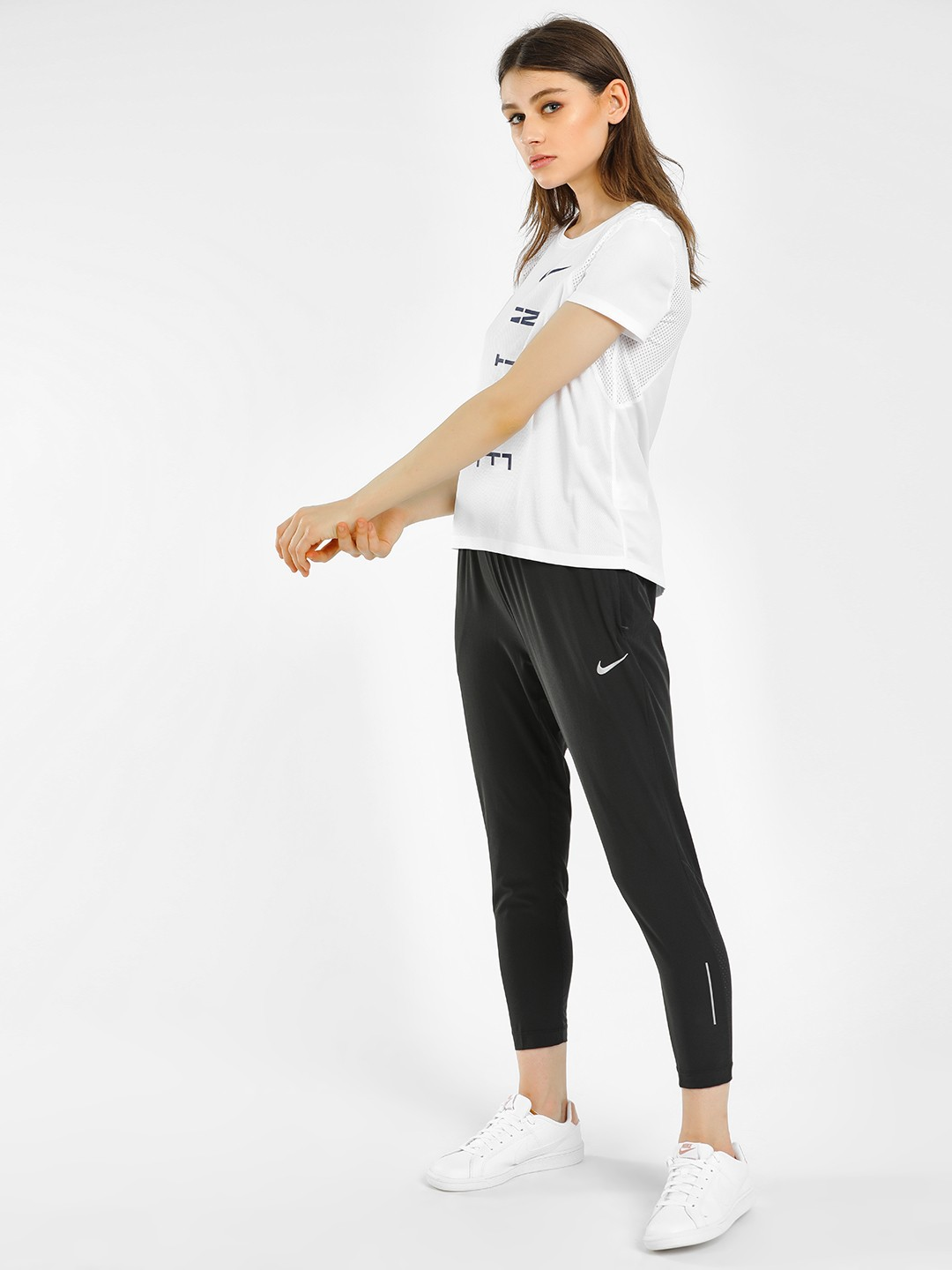 Nike Black AS Essential Running Trousers 1