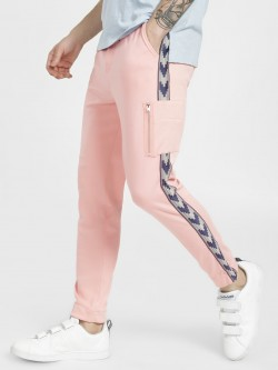 KOOVS Geometric Side Tape Joggers