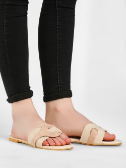 CAi Interlace Detail Suede Finish Slides