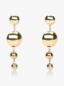 Style Fiesta Concentric Drop Statement Earrings