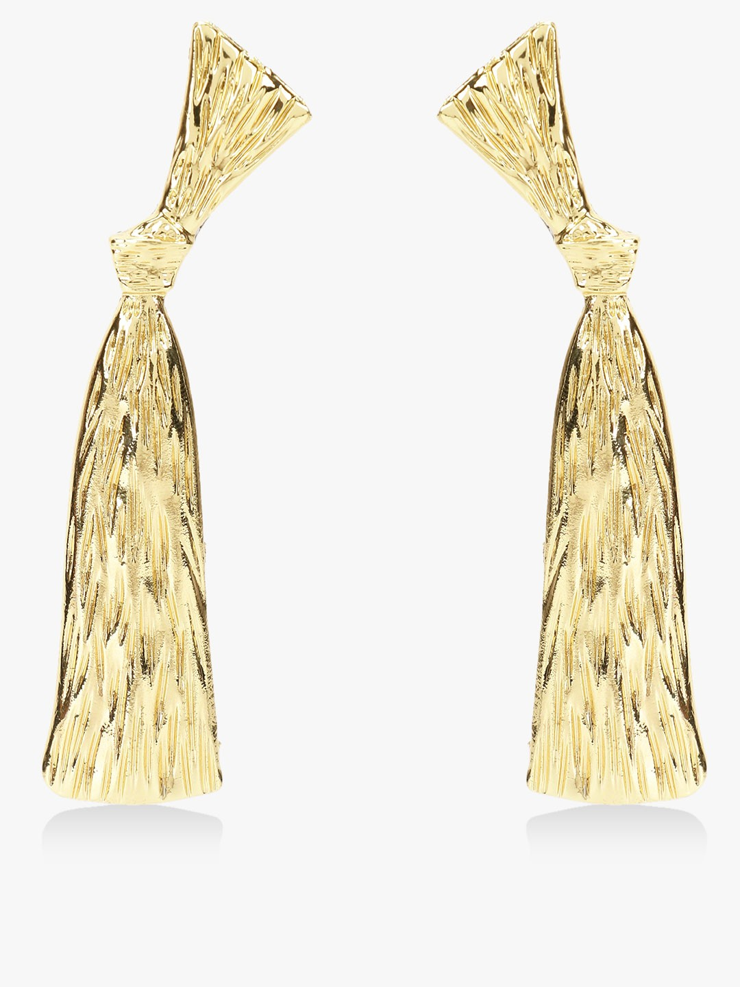Style Fiesta Gold Knot Detail Textured Earrings 1