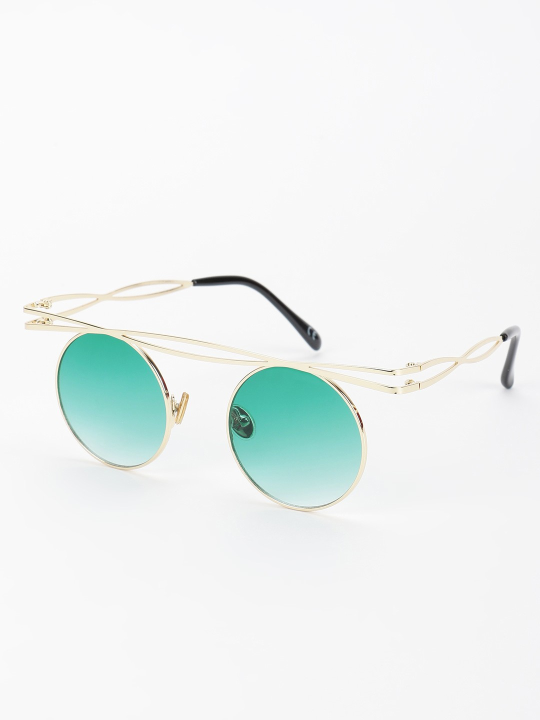 Style Fiesta Green Coloured Lens Round Sunglasses 1