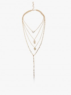 Style Fiesta Multi Chain Layered Necklace