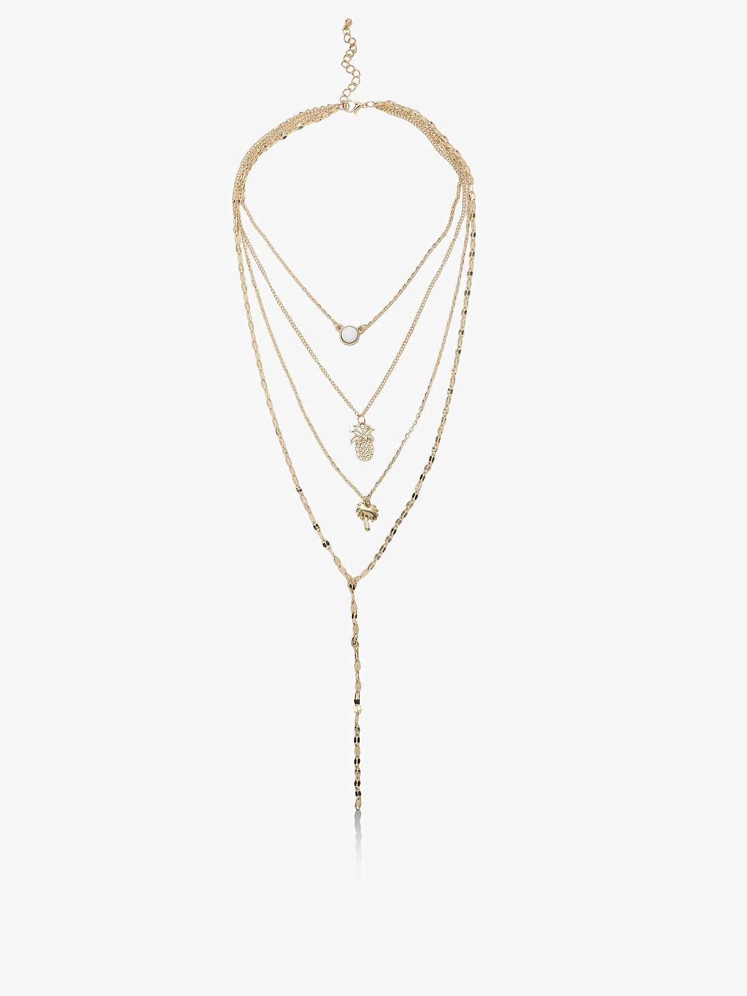 Style Fiesta Gold Multi Chain Layered Necklace 1