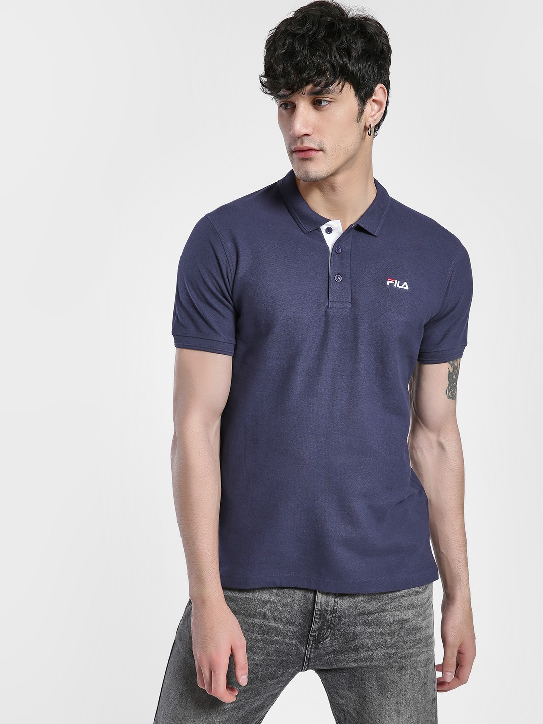 Fila Blue Logo Detail Polo Shirt 1