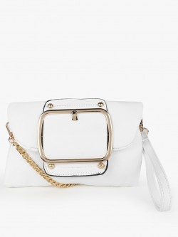 Origami Lily Big Buckle Detail Sling Bag