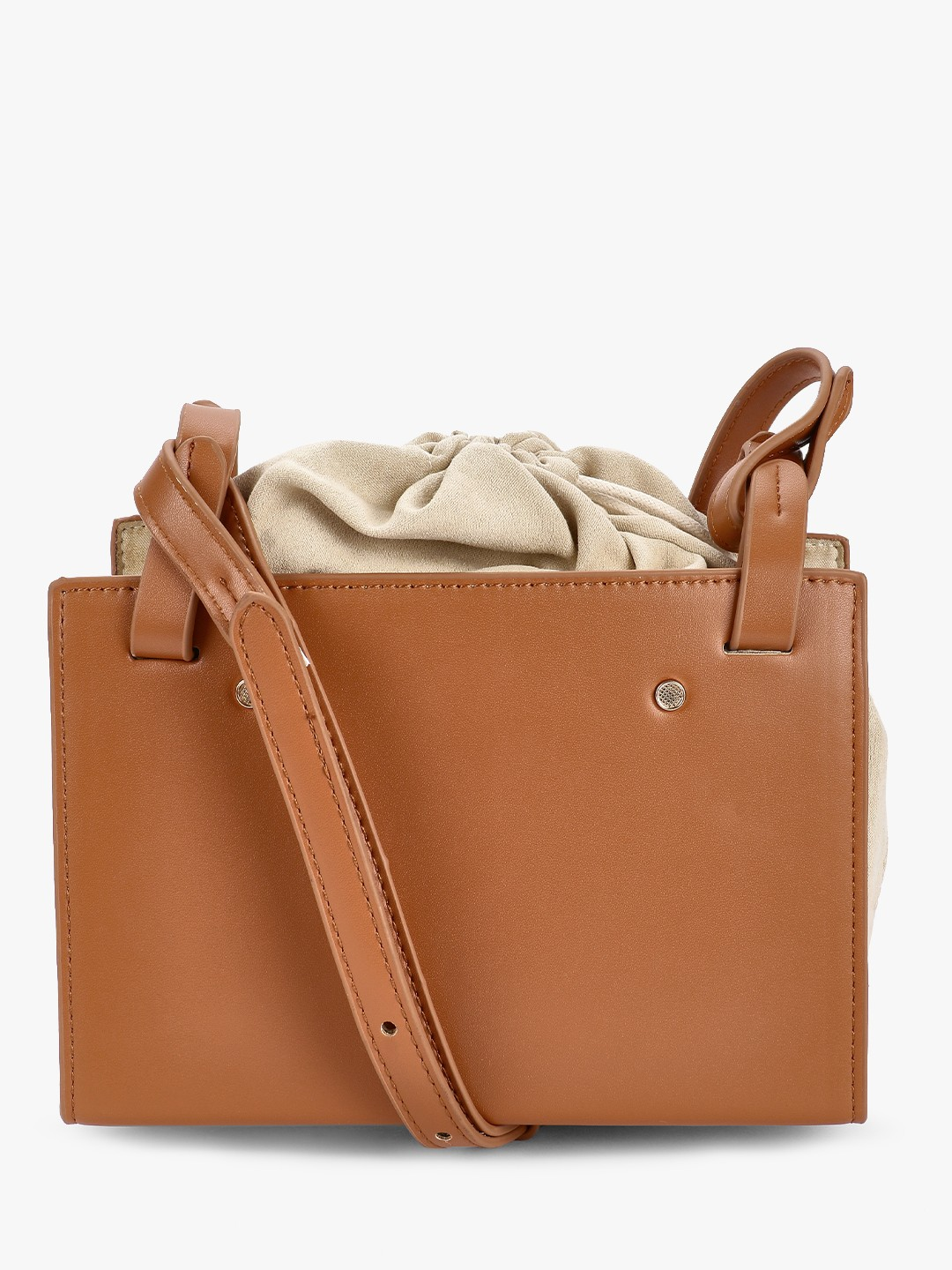 Origami Lily Tan Inside Pouch Sling Bag 1