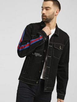 K Denim KOOVS Contrast Tape Denim Jacket