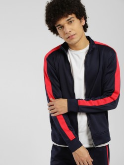 KOOVS Contrast Side Tape Track Jacket