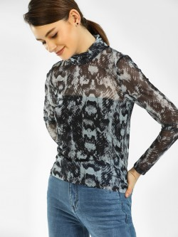 Vero Moda Animal Print Mesh Top