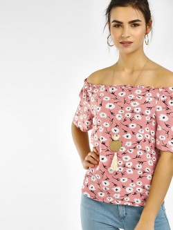 Vero Moda Floral Print Off-Shoulder Top