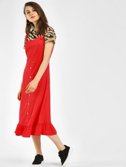 Vero Moda Flared Hem Midi Dress