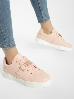 My Foot Couture Buckle Detail Lace Up Sneakers