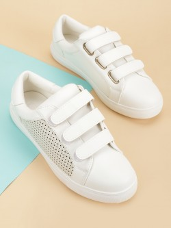 My Foot Couture Perforated Panel Triple Strap Sneakers