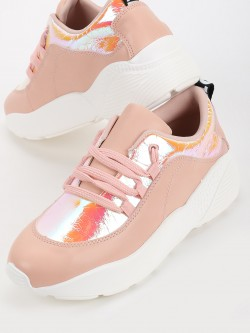 My Foot Couture Holographic Panel Chunky Sole Trainers