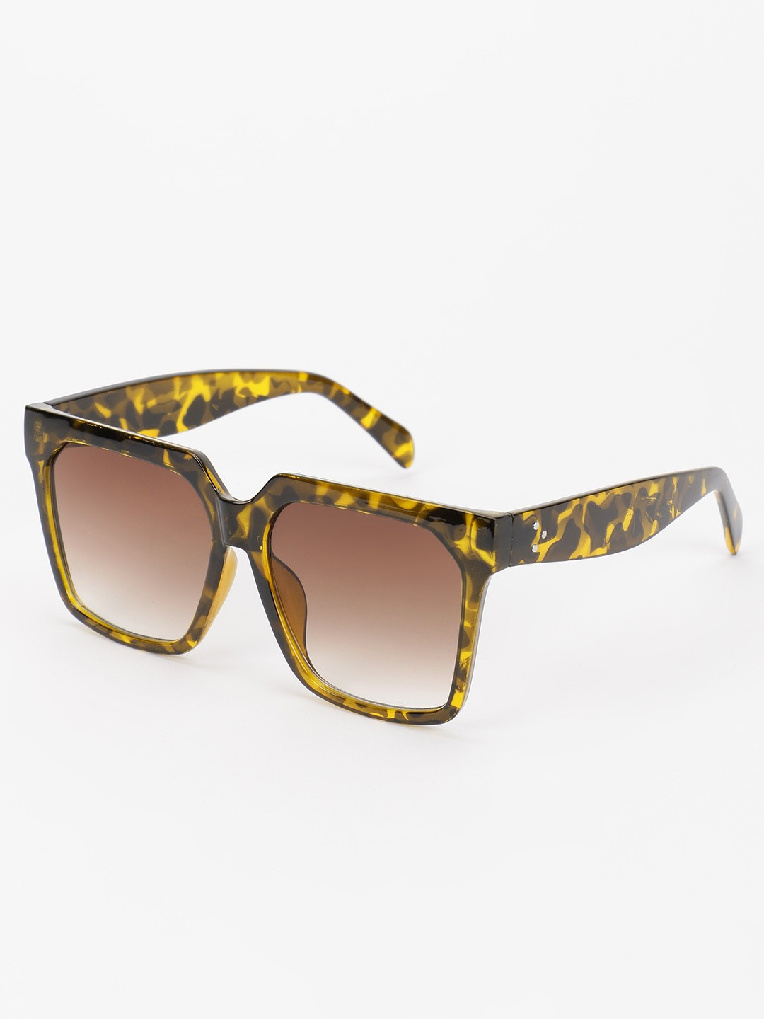 Pataaka Brown Tinted Lens Classic Textured Sunglasses 1