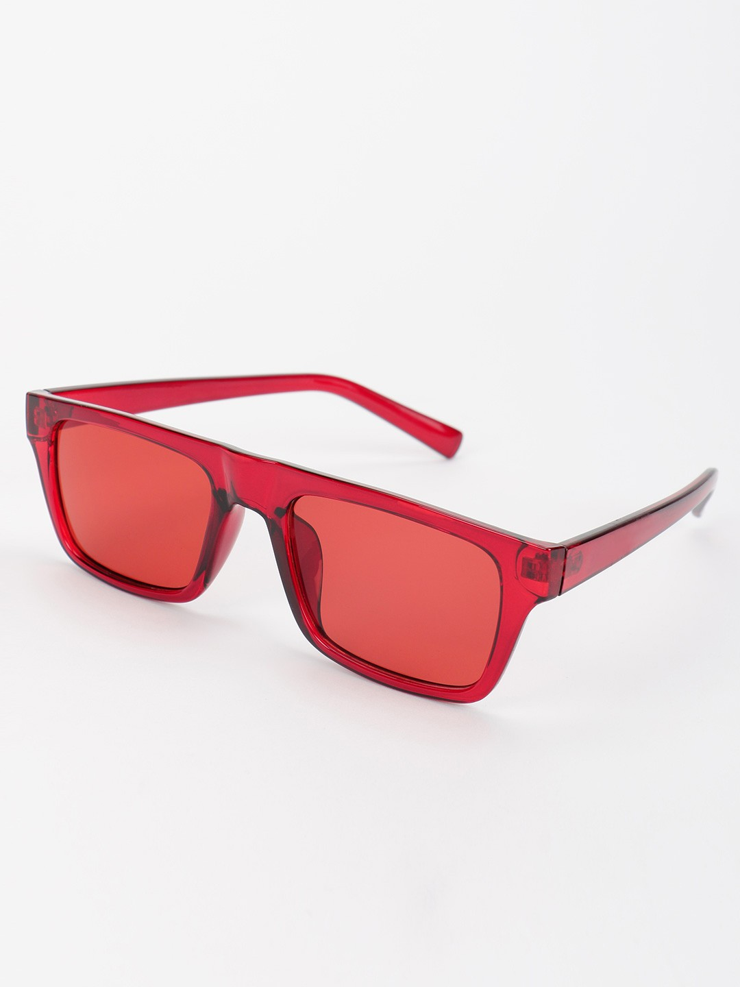 Pataaka Red Coloured Tinted Lens Square Sunglasses 1
