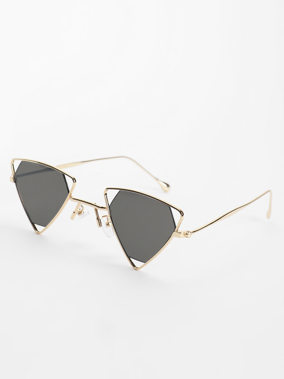 Pataaka Black Triangle Frame Retro Sunglasses 1