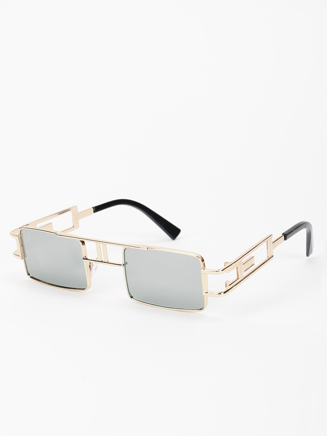 Pataaka Grey Metal Frame Square Sunglasses 1