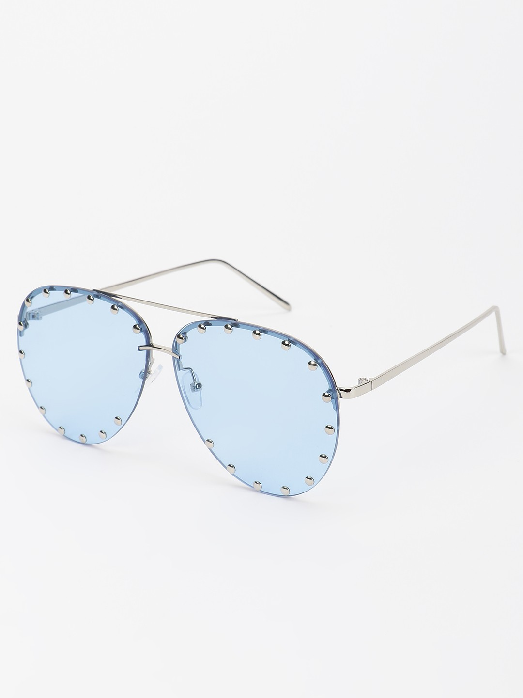 Pataaka Blue Studded Pilot Sunglasses 1