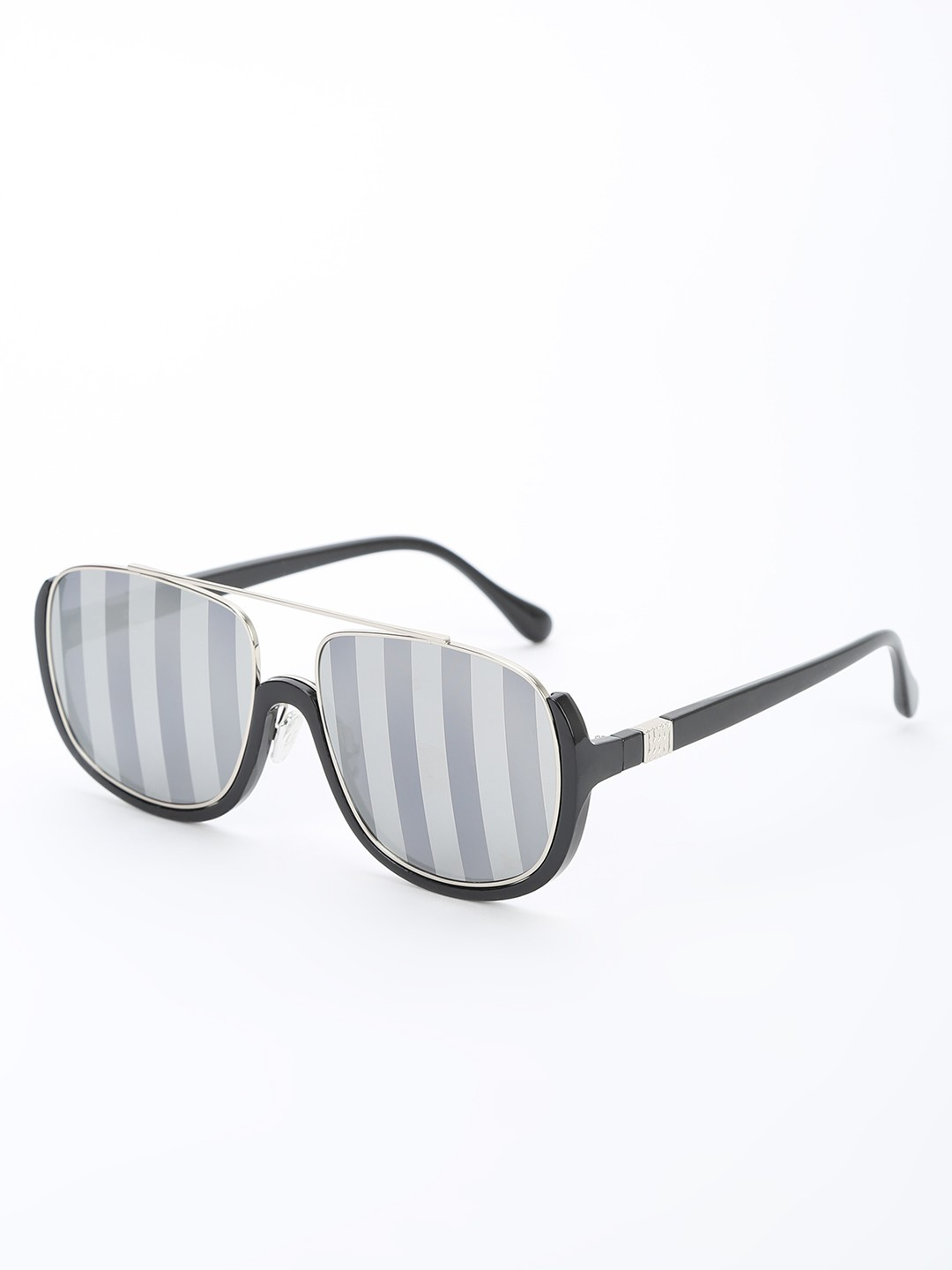 Pataaka Black Texture Mirrored Pilot Sunglasses 1