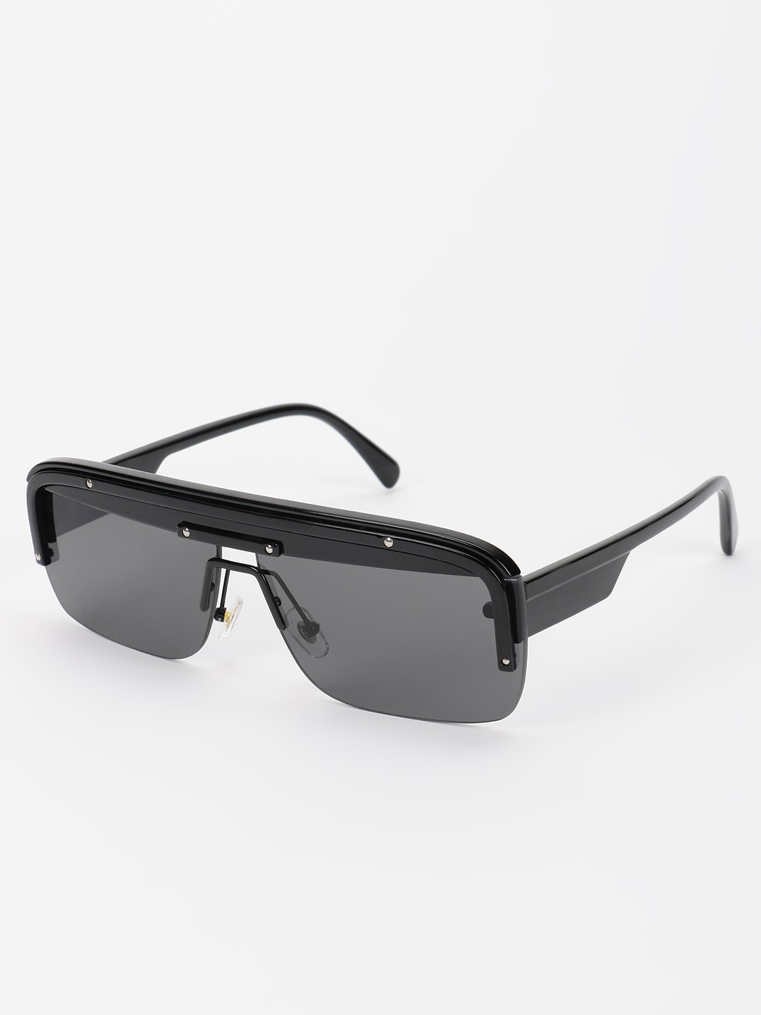 Pataaka Black Wide Frame Tinted Retro Sunglasses 1