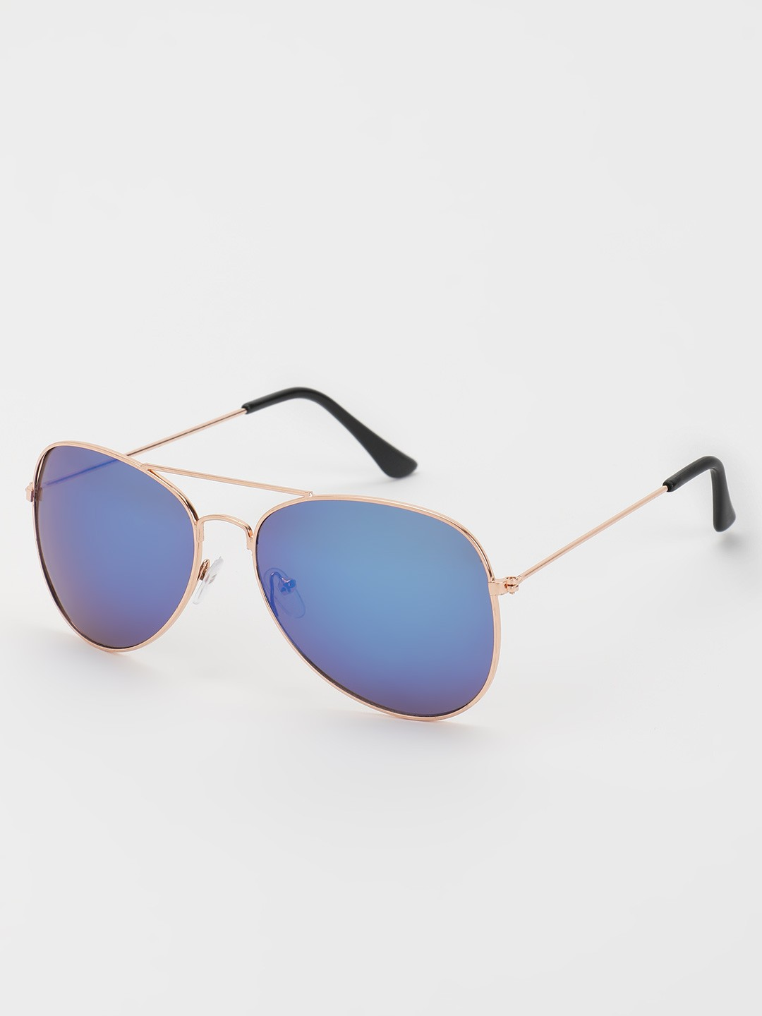 KOOVS Blue Coloured Lens Pilot Sunglasses 1