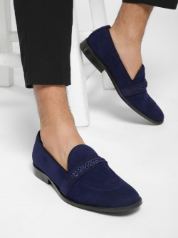 Griffin Suede Knotted Penny Loafers