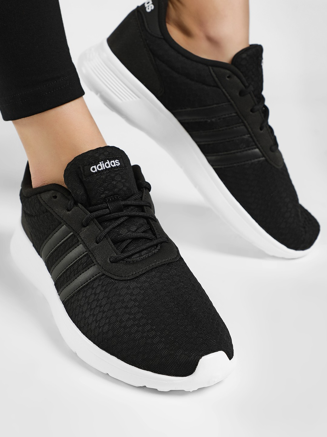 Adidas Black Lite Racer Shoes 1