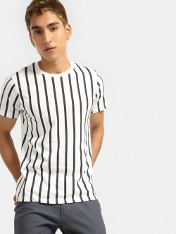 Blotch Vertical Stripe T-Shirt