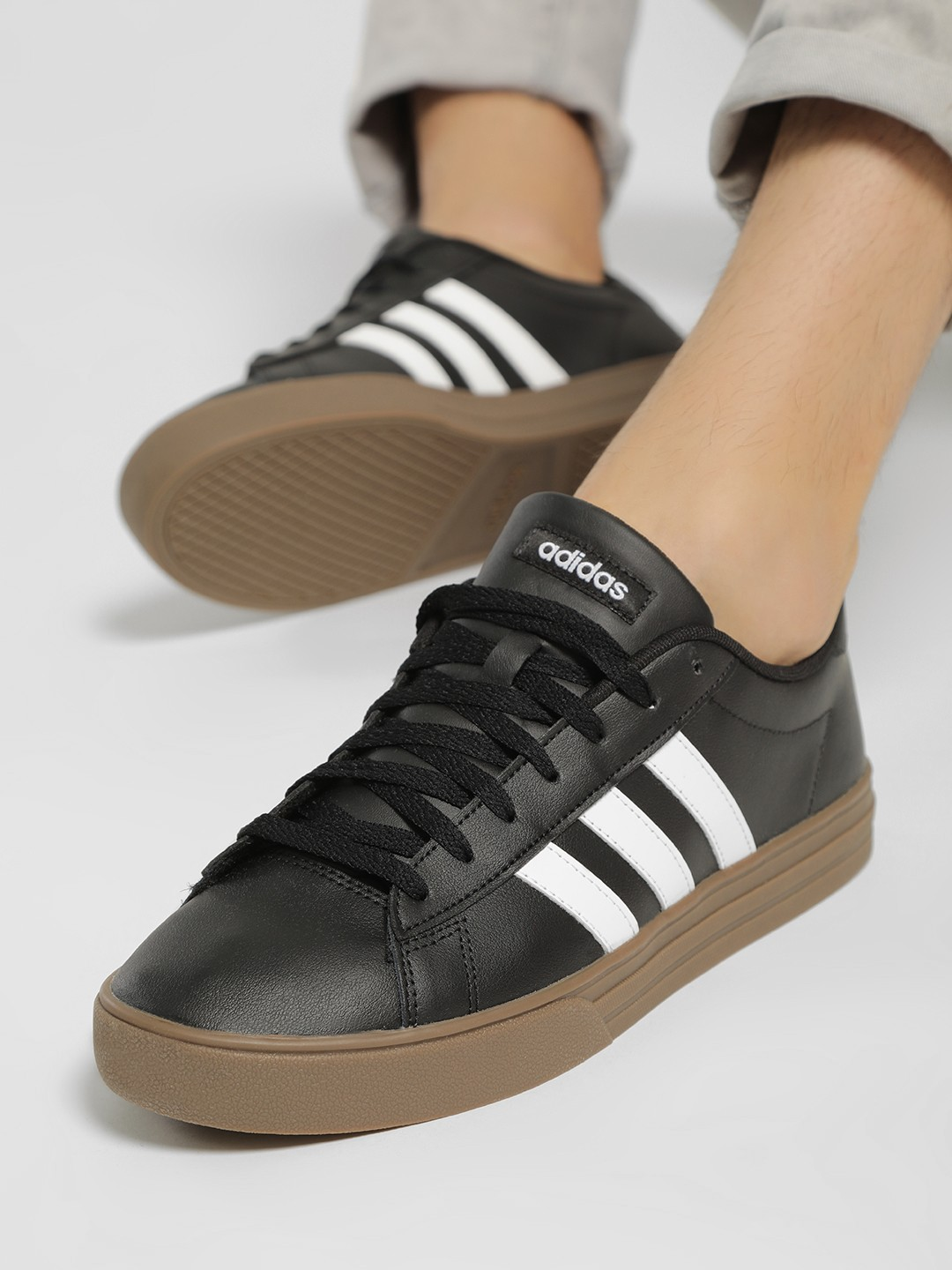 Adidas Black Daily 2.0 Shoes 1