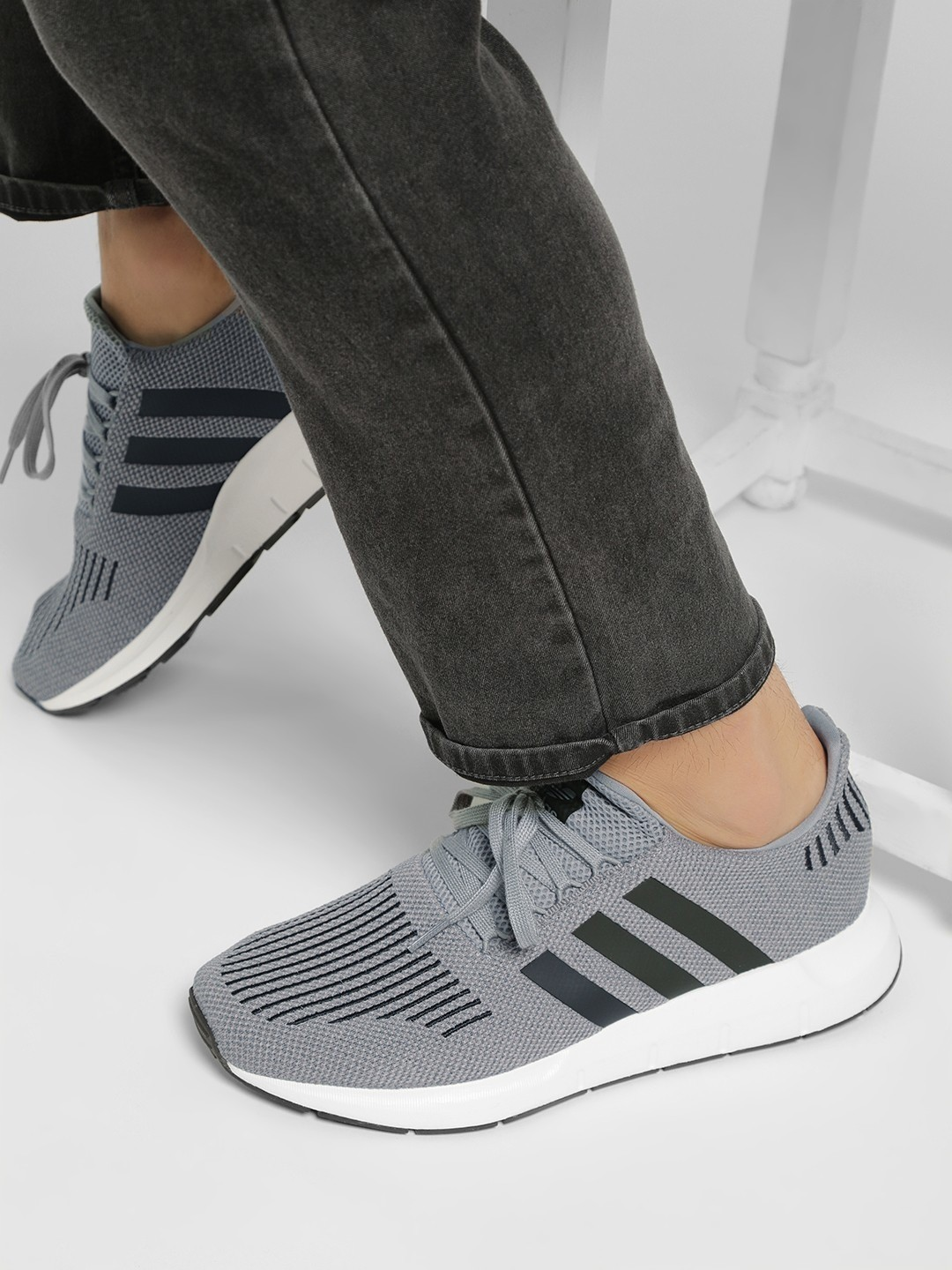 Adidas Originals Grey Swift Run Shoes 1