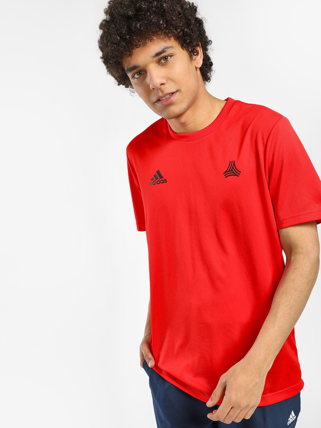 Adidas Red Tan Training T-Shirt 1