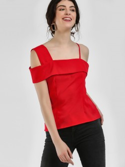 Ri-Dress One Shoulder Strappy Blouse