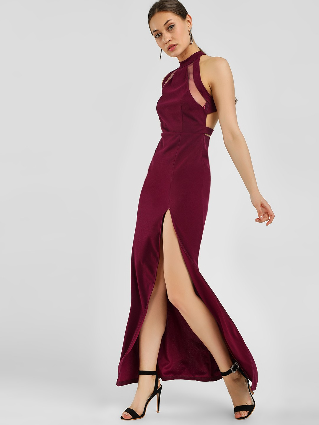 Ax Paris PLUM Halter Neck Maxi Dress 1
