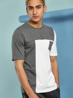 Blotch Colour Block Patch Pocket T-Shirt