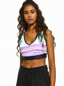 Bellfield Striped V-Neck Bralette